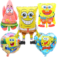 Big spongebob happy birthday lovely balloons Party toys for childrens day birthday party decoration baby shower Patrick Star
