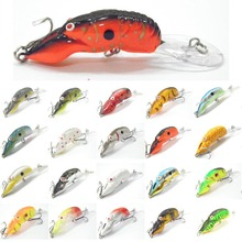 wLure 10g 9cm Crankbait Hard Bait Carp Fresh Water Sea Deep Diver Tight Wobble Floating Crawfish Insect Bait Fishing Lure C569