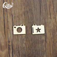 QITAI 24 Pieces/lot Scrapbook Products Photo Frame Square DIY Wooden Flourish Wooden Veneer For Scrapbooking WF216(China)