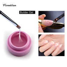 Verntion Nail UV Crystal Gel For Nail Art Pink White Clear 5g/piece Top UV Gel Builder 3 Colors For Choosing Nail Gel Polish