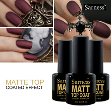Sarness Matt UV Gel Nail Polish Matte Top Coat Top it Off Soak Off Gel VarnishFrosted Surface Oil vernis semi permanent
