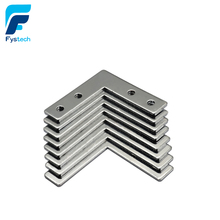10pcs 4hole 90 Degree Joint Board Plate Corner Angle Bracket Connection Joint Strip For Aluminum Profile 2020 20x20 with 4 holes(China)