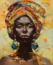 Handmade Modern Abstract African Woman Portrait Knife Canvas Oil Paintings Wall Decorative Hand Paint Sexy Lady Acrylic Pictures