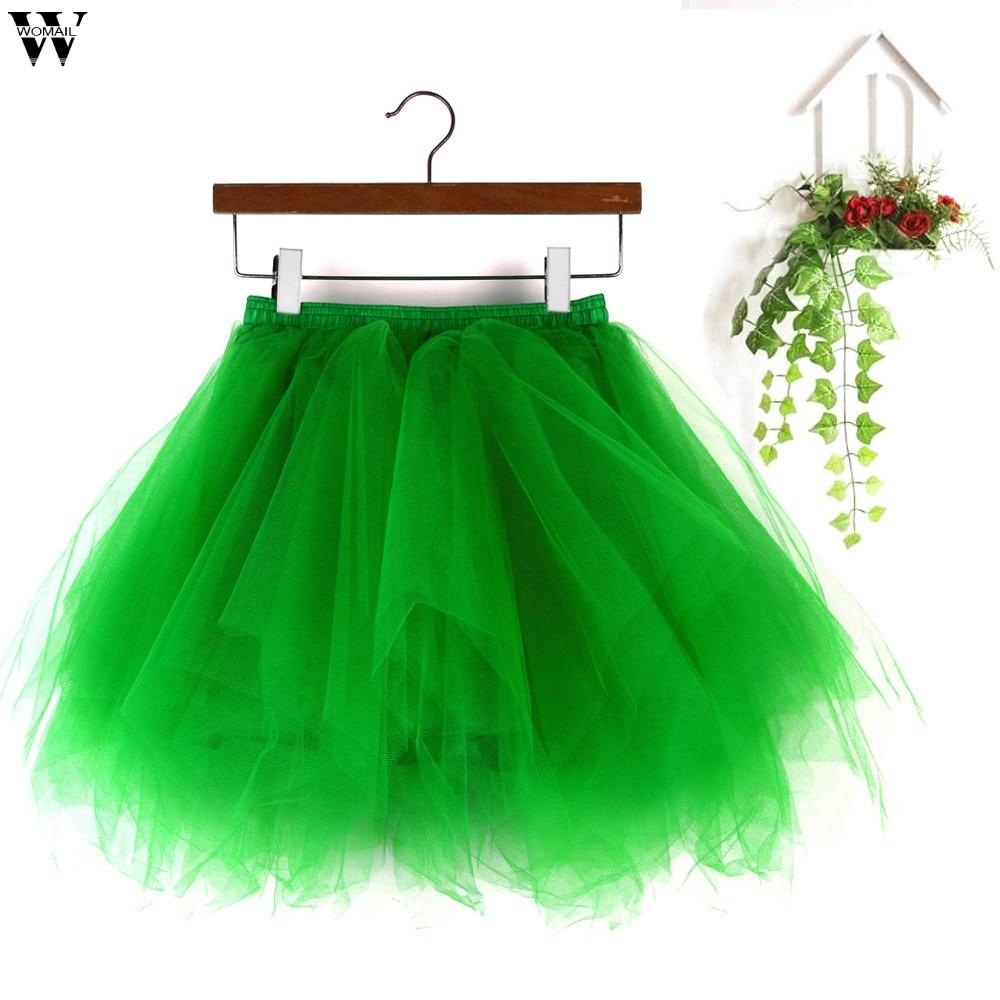 Women Girl Mesh Tutu Dress Flared Pleated Swing High Waist Underpant Mini Skirts