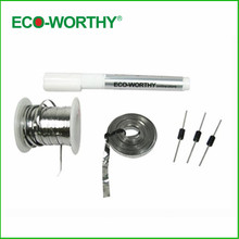 USA stock solar cell DIY kit with tab wire buses wire flux pen dides, free shipping(China)