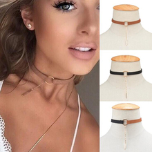 Collares Sale Goth Choker Necklaces Women Fashion Metal Tassel Stitching Color Velvet Necklaces&pendants 2017 Neck Boho Jewelry(China)