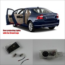 Car Door Ghost Shadow Lights For Volvo S80L 2012~2014 Courtesy Doors Lamp / Brand Logo LED Projector Welcome Light(China)