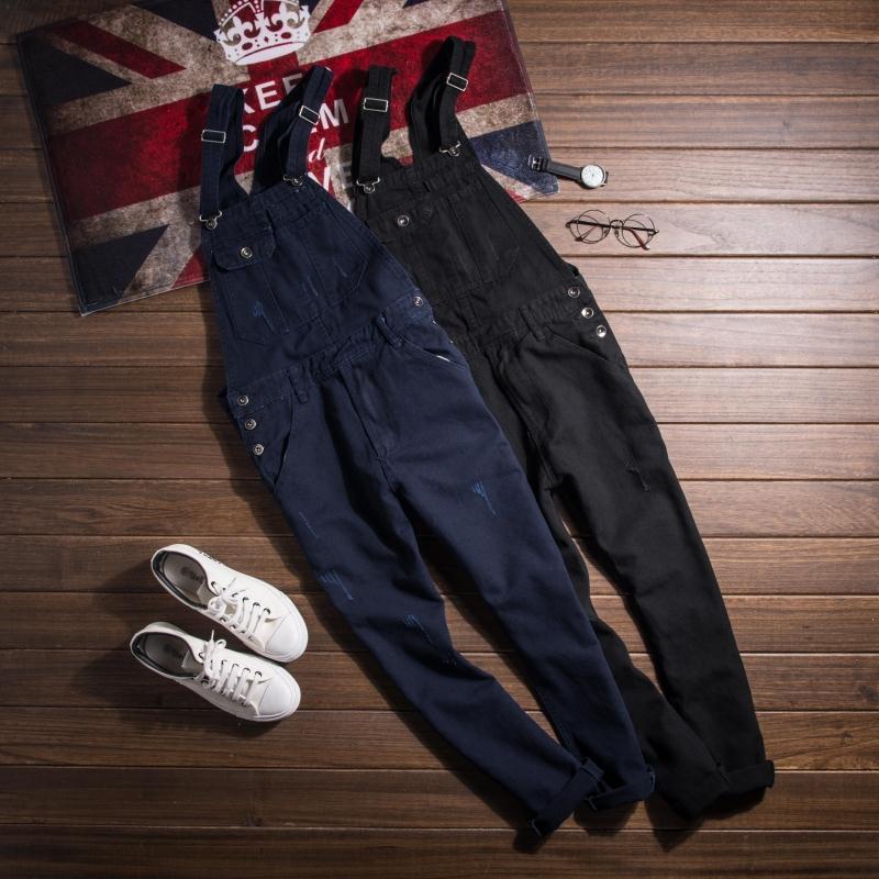 2017 Fashion Vintage Mens Slim Fit Skinny Bib Ovealls Jeans Spring Autumn New Cotton Casual Jumpsuits Pants For Man 021411Îäåæäà è àêñåññóàðû<br><br>
