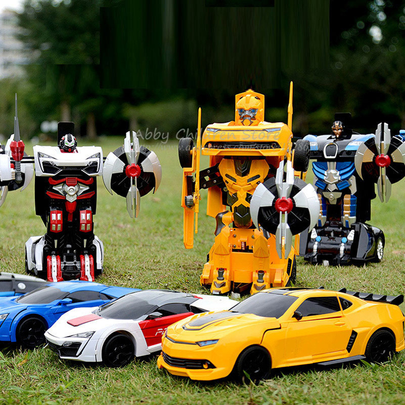 RC Robots Remote Control Cars Transformation Transform Toy Light Sound Dance Electric Car Models Action Toy Boy Birthday Gift <br><br>Aliexpress