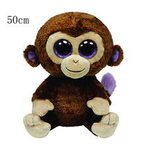 "Ty Beanie Boos 20"" 50cm Coconut the Monkey Large Plush Stuffed Animal Collectible Soft Doll Toy(China)"