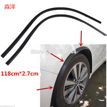 2PCs 118cm carbon fiber car fender flare wheel eyebrow protector wheel Arch trim strip Fit for Subaru Outback Legacy Forester X(China)