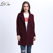 H.SA 2016 Winter Long Sweater Coat for Women Turn Down Formal Long Cardigans Christmas Sweaters Oversized Coat Knitted camisola
