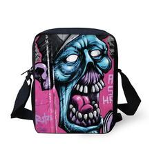 Retro Vintage Children Messenger Bag Cool Graffiti Print Men's Spain Bags Canvas Crossbody Bags for Boys Casual Boys Kid Handbag