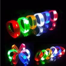 Colorful LED Flashing Bracelet Glow Bangle Wristband Kids Adults Bar KTV Disco Rave Party Dress Decoration Christmas Navidad(China)