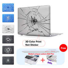 Broken Mirror Laptop Accessories Hard Cases Cover For Macbook Pro 13 Case Pro 13 15 Retina Laptop Skin 13.3 Inch Tablet(China)