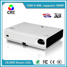 New System Business  DLP 3000 ANSI Lumens Home Theater Projector Airplay Full HD 1080P Active shutter 3D WiFi Projector