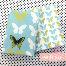 New 40*50cm 2pcs/lot Cotton fabric twill tissu costura for sewing Doll curtain Pillow quilt Cover patchwork fabric Butterfly C37