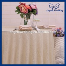 SQ025K New 90 inch round cheap cream sequin cake table cloth