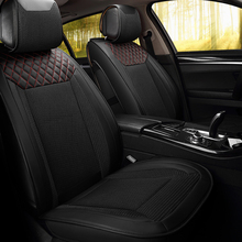 Breathable honeycomb fabric Universal Luxury Auto Seat Covers Wearable Artificial Leather Car Seat Cover Car Accessories