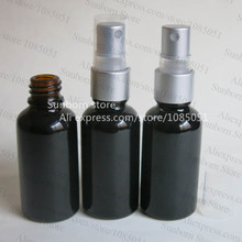 10 pcs/lot 30 ml glossy black perfume sprayer bottle with good quality