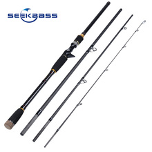 SEEKBASS New Fishing Rod Spinning Casting Rod High Carbon Fiber Telescopic 2.1M 2.4M 2.7M Fishing Travel Rod Tackle peche lure r(China)