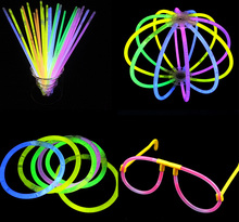 100pcs High Quality Multi Color Glow Stick Bracelets Glowsticks light stick flashing led toys Xmas Christmas Party Supplies