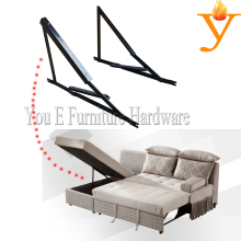 Metal Furniture Parts Storage Sofa Bed Mechanism Hinge With Spring D16