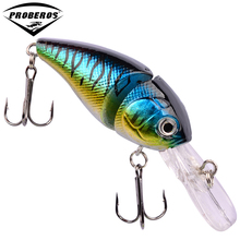 "1PC 2 Sections Fishing Lure 0.5oz-14.15g/8.5cm-3.35"" Crank Bass Bait 6# Black Hook Fishing Tackle DHC002"