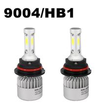 Freight Discount 2 pcs S2 9004 72W 8000LM 6000K Auto Car LED Headlight Bulbs