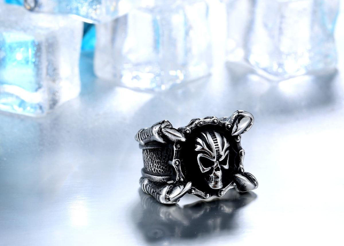 แหวนโคตรเท่ห์ Code 021 แหวน Biker สแตนเลส เท่ห์ๆโหดๆ6