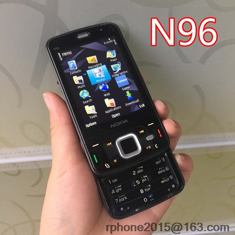 Original Nokia N96 Mobile Phone Unlocked 3G WIFI 5MP Smartphone Refurbished English keyboard& One year warranty(China)