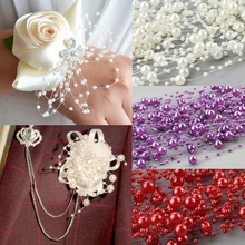 HAOCHU 10pcs/lot 1.3m Baby's Breath Artificial Pearl Beads Chain Garland Wedding Corsage Party Flower House DIY Cloth Decoration