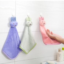 Cute cartoon rabbit bear microfiber dry hands towel cloth dishcloth bowel oil cleaning accessories dish Kitchen