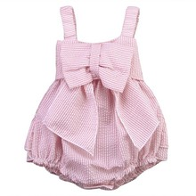 High Quality 0-24M Summer Newborn Cute Striped Bubble yarn Pink Baby Dress girl party dress newborn baby girl dresses fun