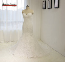 Elegant Dot Tulle Lace Mermaid Wedding Dresses NS1308 Real Samples(China)
