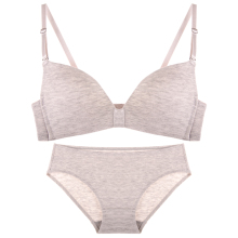 C latest style bra wirelEss bra hot sexy young ladies's bra and panty set with solid color simple fancy design bra