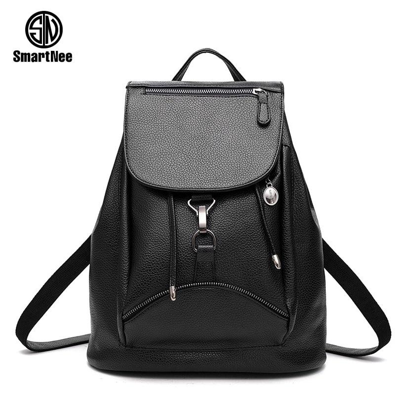 SmartNee Fashion Backpacks Women PU Leather School Bag Girls Female Candy Colors Travel Shoulder Bags Waterproof Back Bags <br><br>Aliexpress