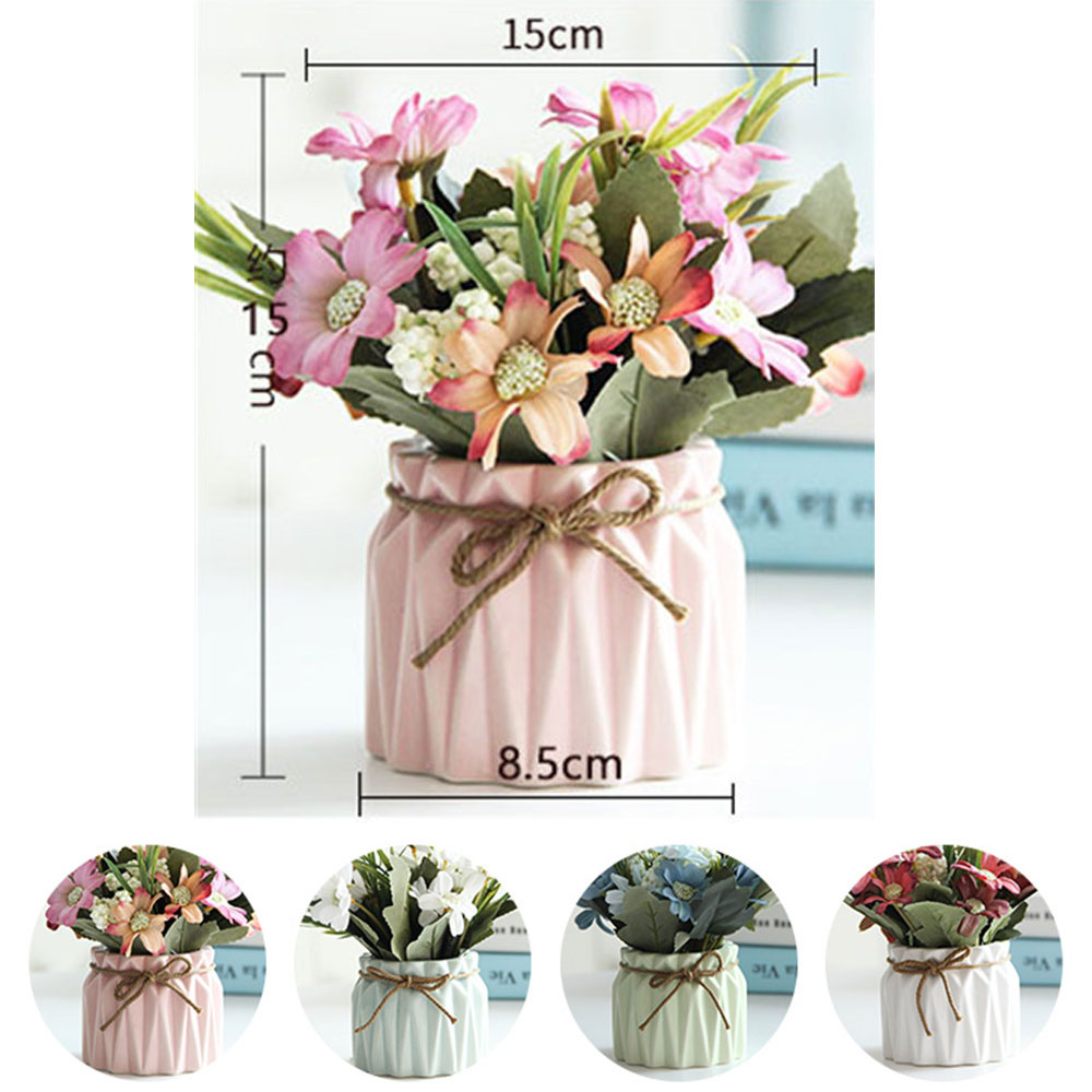 Wholesale Decorative Potted Plants Artificial Flowers With Vase For