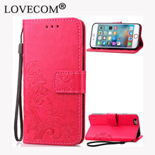 Genuine Leather Card Holder Magnetic Flip Coque Clover Wallet Cover Phone Case For iPhone 4S 5 5C 5S SE 6 6S Plus 7 7 Plus