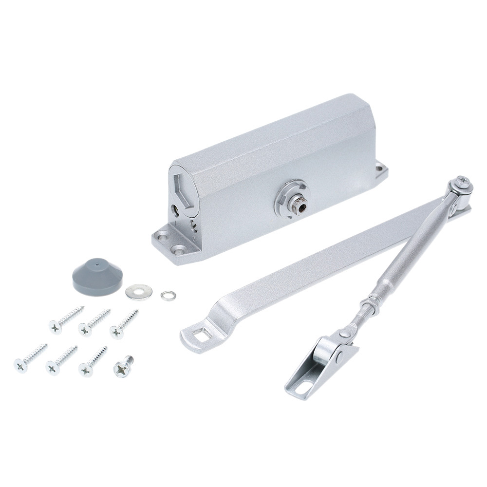 High Quality Automatic 45-65KG Door Closer Access Control Hydraulic Arm Mini Door Closer Home Mechanical Speed Control(China)