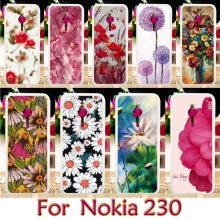 Soft TPU Plastic Painted Case For Nokia 230 Lumia 430 N430 Case Smartphone Shell Cover Housing Mobile Phone Skin