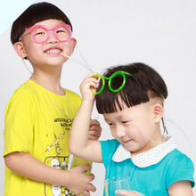 2017 creative funny toys soft plastic straw glasses shapes drinking straw joke toy for party novelty items(China)