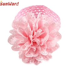 Girls Flower Hairband SUNWARD delicate 2017 Kids Lace Headband Dress Up Head band 1pc W12