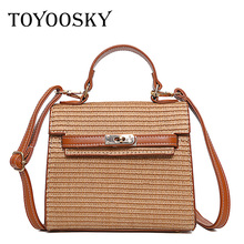 TOYOOSKY Women Straw Bag Luxury Handbags Women Kelly Bags Famous Brands Designer Messenger Bags Tote Fashion Shouler Beach Bag