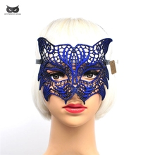 Mysterious Angel Creative New Colors Halloween Masquerade Sexy Lady Lace Mask Hollow Out Catwoman Happy Gifts Tiger