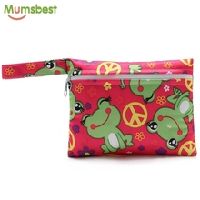 [Mumsbest] 1 Pc Mini Small Wet Bags Reusable Waterproof wet Bag Pouch For Nursing Pads Stroller Mini diaper bags size:18X14cm
