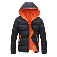 2017 New Fashion Casual Winter Men Jackets Slim Warm Jacket Hooded Winter Thick Coat Parka Overcoat Hoodies Male Coats Outerwear