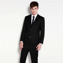 The new Korean fashion slim solid two button suit trousers for men without edge manufacturers selling