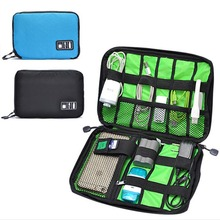 Simple Portable Digital Storage Bag Travel Data Lines U Disk Pack Waterproof Storage Bag Drop Resistance E2shopping