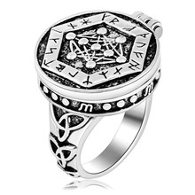 EZEI Armanen Runes Talisman yggdrasil Tree of Life Rings(China)